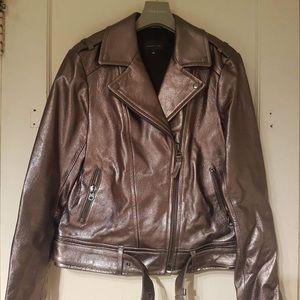 Mackage for Aritzia metallic leather jacket M